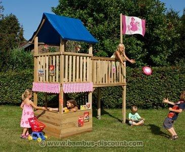 """Spielturm Prinzessin """"FIPS"""", Bausatz mit 109x260x290cm – Kinderspielgeräte für Garten, Spielgeräte für Kinder, Spielturm, Spieltürme kaufen"""