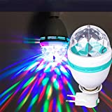 BOYON Stage Light Bulb, Party Light, Rotating LED Strobe Bulb with Screw Base (Multi changing Color, RGB, Energy Saving, 3W) Best for Party, Disco Club Bar,DJ. Ball