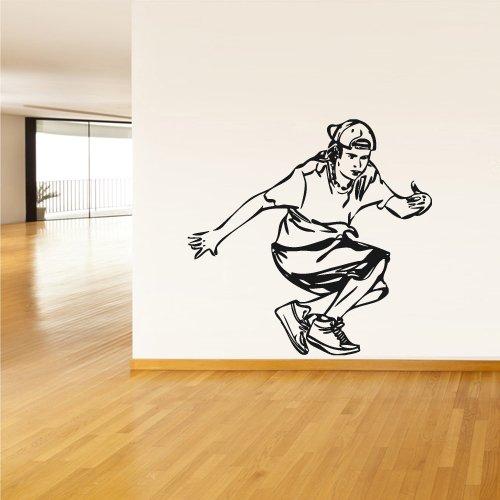 Wall Vinyl Sticker Decals Decor Art Break Dance Dancing Teenager (Z1982) front-985274