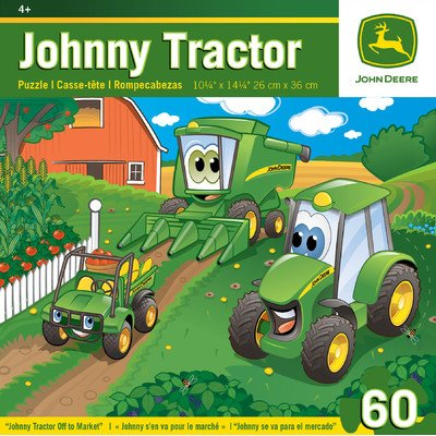 Masterpieces Johnny Tractor Off To Market Jigsaw Puzzle, 60-Piece