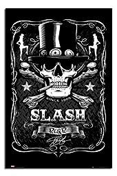 Slash Skull & Crossbones Label Poster - 91.5 x 61cms (36 x 24 Inches)
