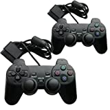 ** 2 PACK OF ** PLAYSTATION 2 / PS2 DUAL SHOCK CONTROLLER JOYPAD, SONY COMPATIBLE - Hi-TEC ESSENTIALS