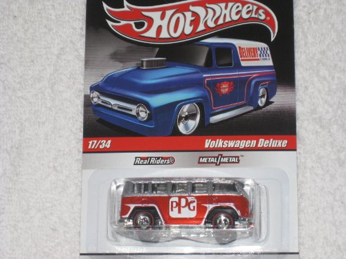 Hot Wheels * Delivery Series - Slick Rides * Volkswagen Deluxe PPG 17/34 with Red Line REALRIDERS & METAL/METAL - 1