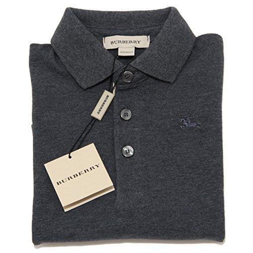 5439I polo bimbo grigia BURBERRY manica lunga maglie t-shirts kids [12 MESI]