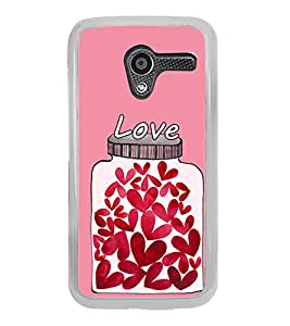 Hearts In a Jar 2D Hard Polycarbonate Designer Back Case Cover for Motorola Moto X :: Motorola Moto XT1052 XT1058 XT1053 XT1056 XT1060 XT1055