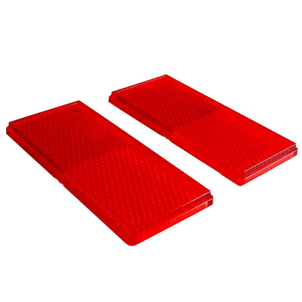RVTravelMats Rectangular Red Stick on Reflectors (2 Pack) at Sears.com