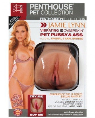 Jamie Lynn Vibrating Cyberskin Pet Pussy and Ass