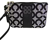 Coach Signature Julia Op Art Wristlet Black White Black Reviewed