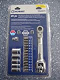 Kobalt 20pc Mini Multi-drive Socket Wrench Flex Head Ratchet 1/4 Drive & Bits