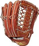 adidas(アディダス) 野球 硬式 グラブ アディダスプロフェッショナル 外野手用 バーントシエナF15×ソーラーゴールド×ゴールドメット BID46