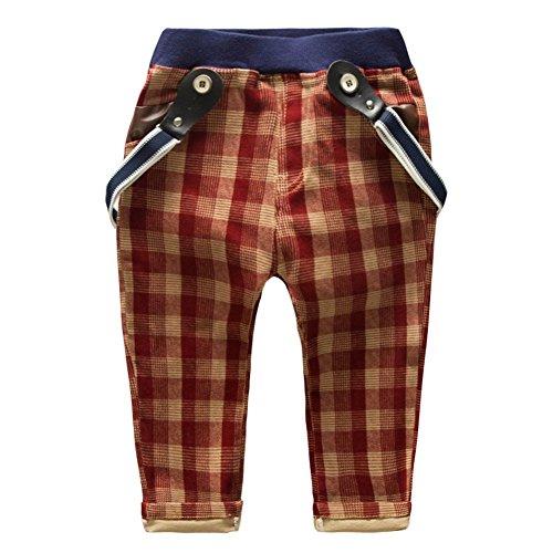 Little Boys' Pants Cotton Lattice Split Rompers Clothing Size 3-4 Years Red (Boys Capri Pants compare prices)