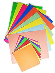 Best Craft Paper Set All in one Pastel paper+ Colored florescent paper+ Origami paper (Pack of 120)