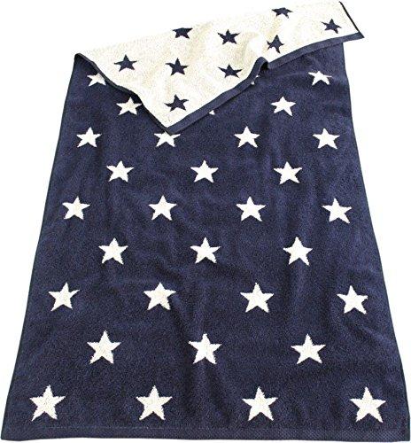 LASA Telo Mare XXL, 100 x 150 cm, motivo a stelle, 6 colori, in spugna di cotone Gästetuch 33x50cm blu