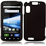Black Rubber Touch 2pcs Phone Protector Hard Cover Case for Motorola Atrix 4G MB860