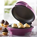 Royal 7 Portion Mini Cupcake Maker Smart Electric Non Stick Surface - Make 7 Professional Cupcakes