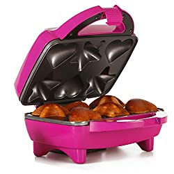 Holstein Housewares Star & Heart Cupcake Maker, Magenta