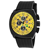 Luminox Tony Kanaan Chrono Black Silicone Yellow Dial (Color: yellow)