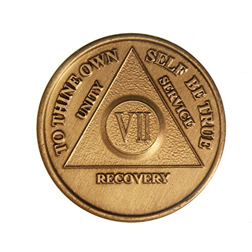 7 Year Bronze AA (Alcoholics Anonymous) - Sober / Sobriety / Birthday / Anniversary / Recovery / Medallion / Coin / Chip