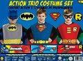 DC Comics Boys Action Trio Superhero Costume Set from Rubies