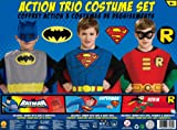 51Rfi3FeElL. SL160  DC Comics Boys Action Trio Superhero Costume Set
