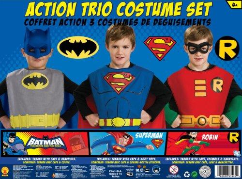 : DC Comics Boys Trio Action Set Dress Up Trunk