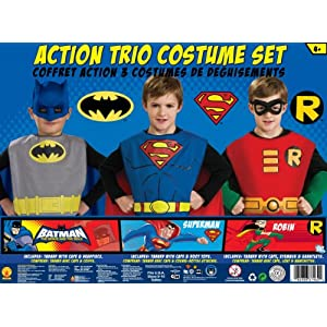 Amazon.com: DC Comics Boys Trio Action Set Dress Up Trunk: Toys & Games