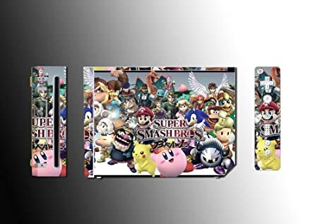 Super Smash Brothers Brawl Game Vinyl Decal Skin Protector Cover 2 for Nintendo Wii