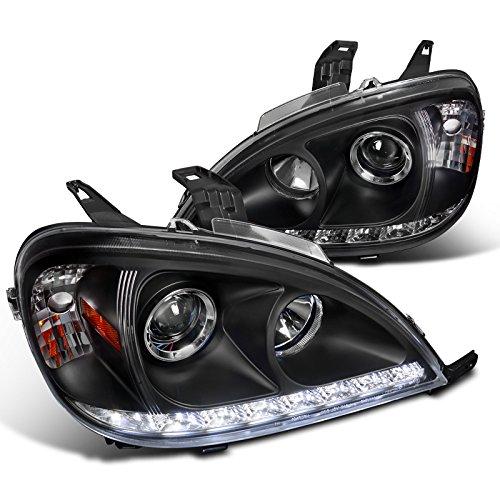 Mercedes Benz W163 ML Class Black Projector Headlights w