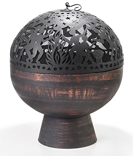 Good-Directions-FB-3-26-Inch-Wrought-Iron-Fire-Bowl-with-Full-Moon-Party-FireDome