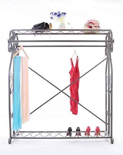 Decorative Grey Steel Iron Garment Coat Rack (Y009D) 3