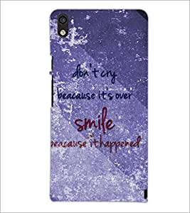 PrintDhaba Quote D-3858 Back Case Cover for HUAWEI ASCEND P6 (Multi-Coloured)