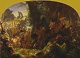 JOSEPH NOEL PATON The Fairy Raid, 19th Century 250gsm ART CARD Gloss A3 Reproduction Poster