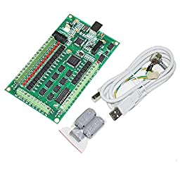 4 Axis CNC Mach3 Breakout Interface Board 4 Axis CNC USB Card 200KHz Support Windows2000/xp/vista Ship from USA
