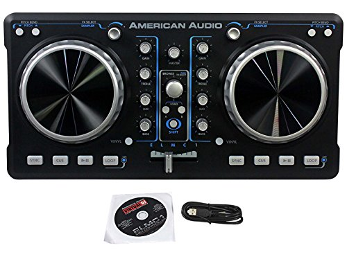 New American Audio ELMC1 2 Chan DJ MIDI USB Software Controller W/ Virtual DJ LE (Software Virtual Dj compare prices)