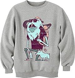 Trippy Guy And His Dog Unisex Crewneck Sweatshirt