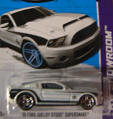 Hot Wheels HW Showroom 155/250 White '10 Ford Shelby GT500 Supersnake - 1