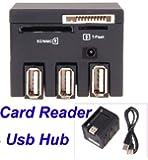 Neewer 3 Port USB 2.0 Hub TF Micro SD MS M2 Memory Card Reader
