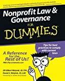 img - for Nonprofit Law & Governance For Dummies by Welytok JD CPA, Jill Gilbert Published by For Dummies 1st (first) edition (2007) Paperback book / textbook / text book