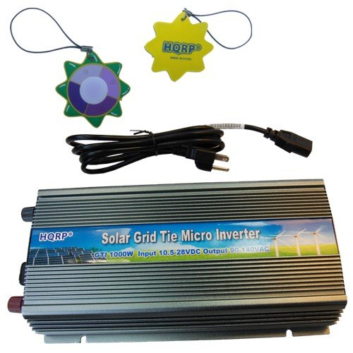 Hqrp 1000W Grid Tied Mppt Power Inverter 10.5V~28V Dc For Kd140Sx-Ufbs / Kd140Gx-Lfbs Solar Panel System Plus Hqrp Uv Meter