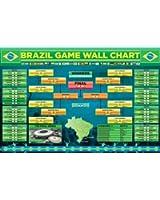 Sports Maxi Poster Of Brazilian Games Football World Cup Wallchart 2014 91.5x61cm
