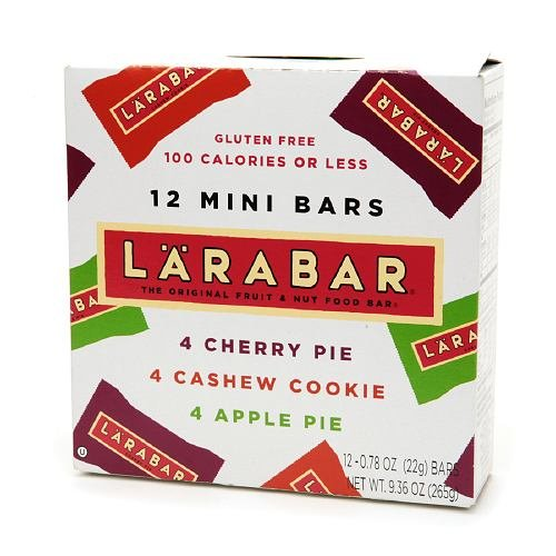 Larabar Mini Bars, Cherry, Cashew Cookie & Apple Pie 12 Ea (Pack Of 6)