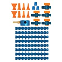 "Loc-Line Coolant Hose Magnetic Base Manifold Super Kit, 25 piece, 1/4"" Hose ID"