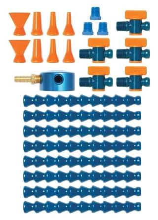 "Loc-Line Coolant Hose Magnetic Base Manifold Super Kit, 25 piece, 1/4"" Hose ID"