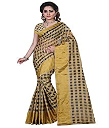 Sanju Adorable Cream Color Moonga chex Saree
