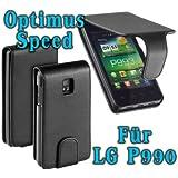 YAYAGO Flip-New-Style Tasche -Ultra Flach- für Ihr LG Optimus Speed P990 inkl. dem Original YAYAGO Clean-Pad