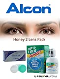 Alcon Freshlook COLORBLENDS Monthly Honey Color All Power Contact Lenses with Lens Care Kit (2 Lens Pack) By Visions India(Please mail us your Prescription)