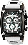 Akribos XXIV Men's AK611WT Explorer Swiss Chronograp Watch with White Leather Strap