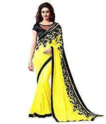 khanak export Women's Georgette Saree(KE_15_Multi-Coloured_Free Size)