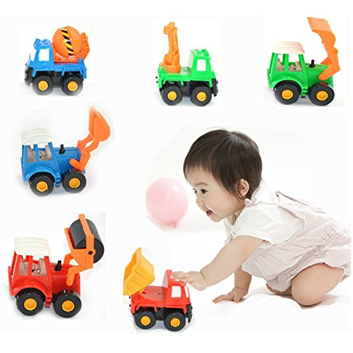 Tractor Toys For Boys : Fajiabao push pull back truck car toy set mini