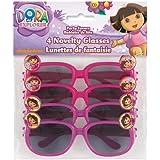 Dora The Explorer Novelty Glasses, 4ct